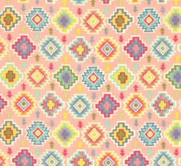 Pink Aztec Alpaca Adventures Baby Nursery Fabric
