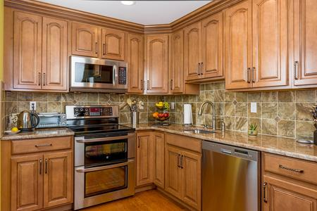 custom cabinets tile backsplash kitchen counter tops kitchen remodel in Englewood Colorado
