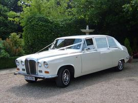 Wedding Car Hire Essex Daimler DS420 Limousine Ivory