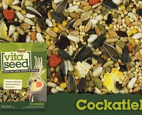 Remington Feed has vita seed food for Cockatiel from Higgins