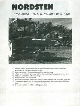 Nordsten Turbo-matic Type TS 500-700-800-1200 Brochure