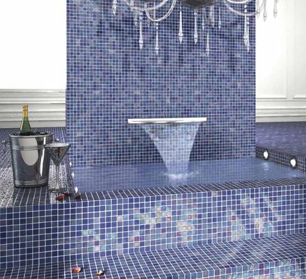 Gresite iris azul cer mica enmallada para duchas vestuarios - Gresite para duchas ...