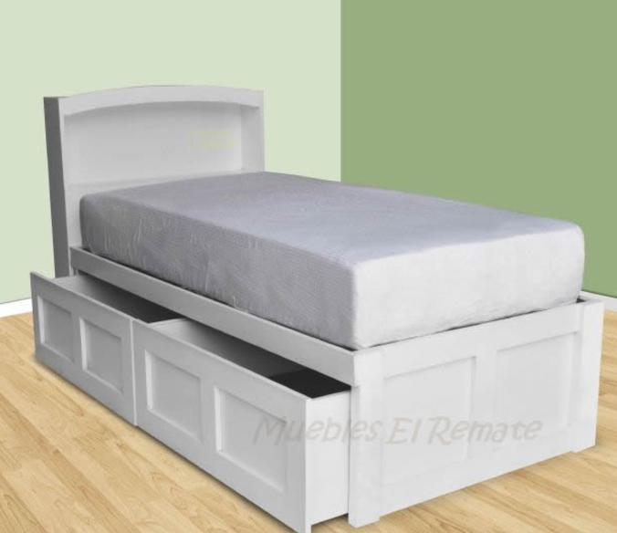 Base con cajones for Base cama individual con cajones
