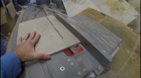 How to cut Hardiebacker cement board with a wet saw. www.DIYeasycrafts.com