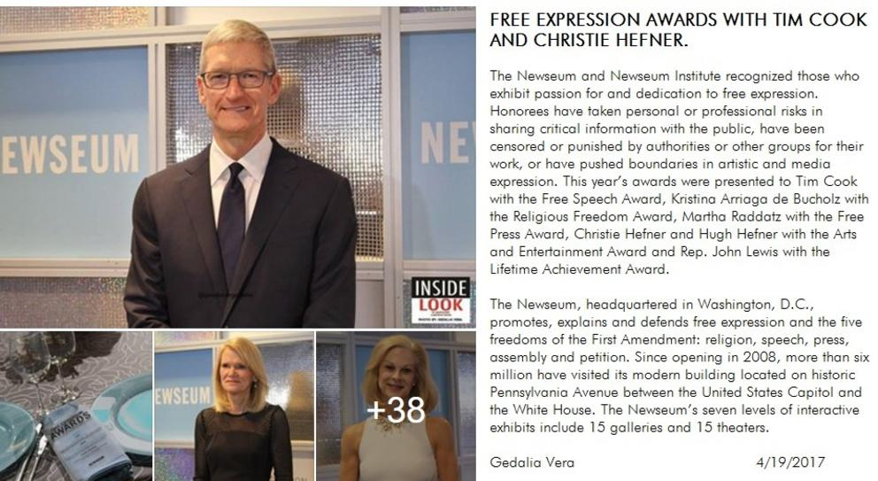 Free Expression Awards with Tim Cook