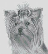 Cross Stitch Chart of a Yorkshire Terrier original artwork by Nick Clark
