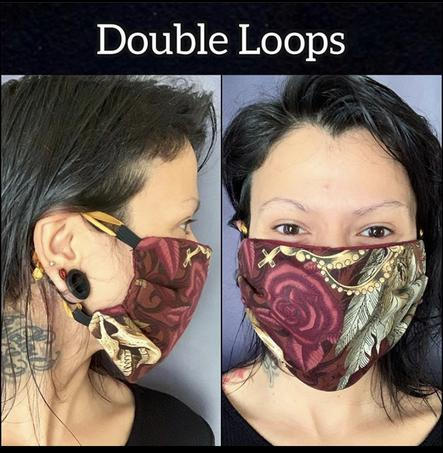 Use both ribbons to loop around your ears