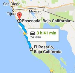 Map to Ensenada