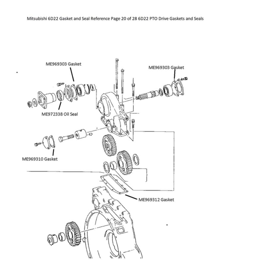 Mitsubishi 6D22 Gasket and Seal Reference Page 20 of 28