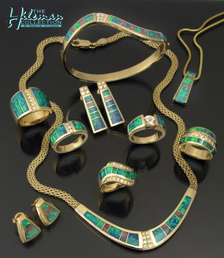 Stunning Australian opal jewelry by Mark Hileman.