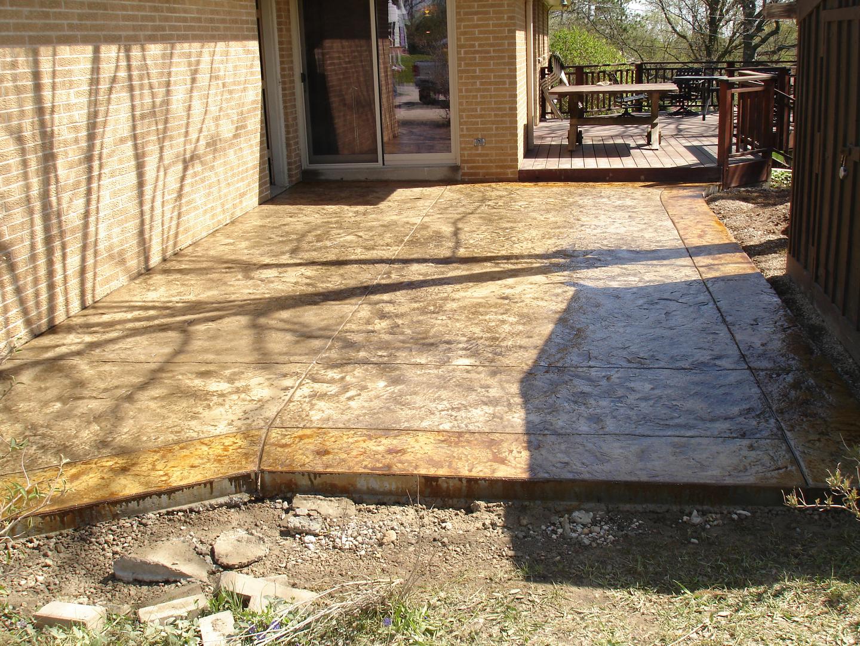 Stamped Concrete, Stamped Concrete Patio - James Concrete ...