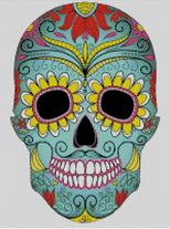 Cross Stitch Chart of Sugar Skull No 32