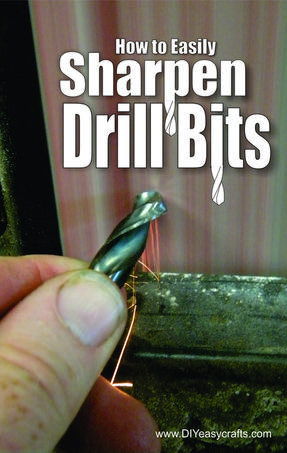 How to easily sharpen drill bits. FREE step by step instructions. www.DIYeasycrafts.com