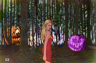 Malak's Halloween Forest by Cliff Carson