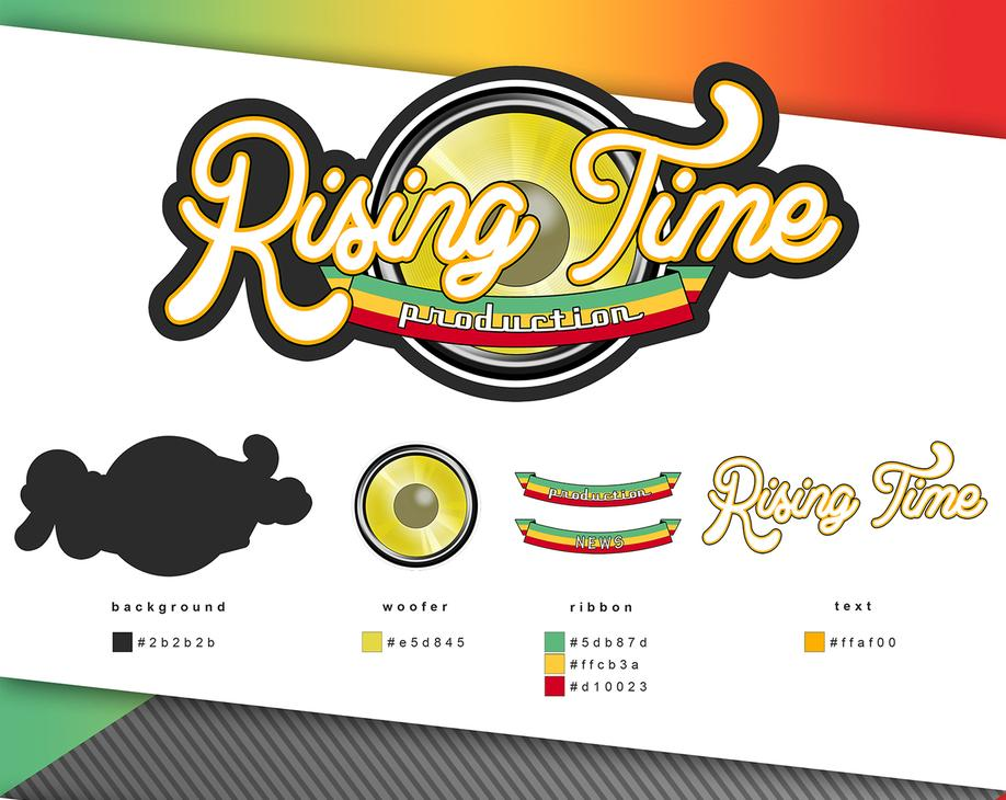 LOGO RISING TIME GRAFICA PROJECT DESIGN DESIGN107