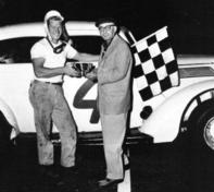 Jim Delaney wins at Vineland Speedway 1958