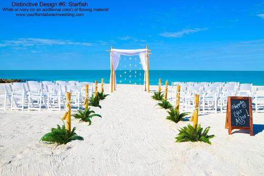 Decorated Florida Beach Wedding Ceremony Package