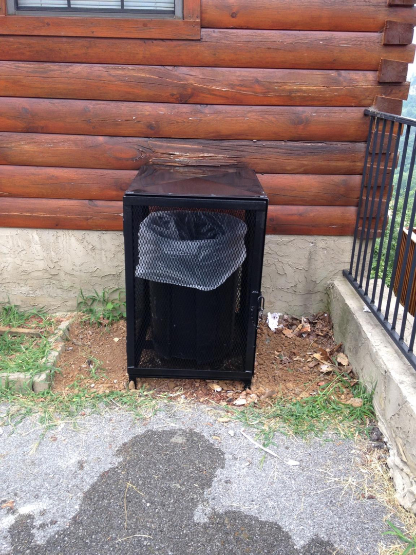 Bear proof trash container bins, park style grills, welding and
