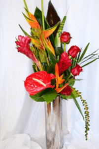 Luxury Exotic Bouquet with Bird of Paradise, Ginger Lily | The Little Flowershop Florist Online
