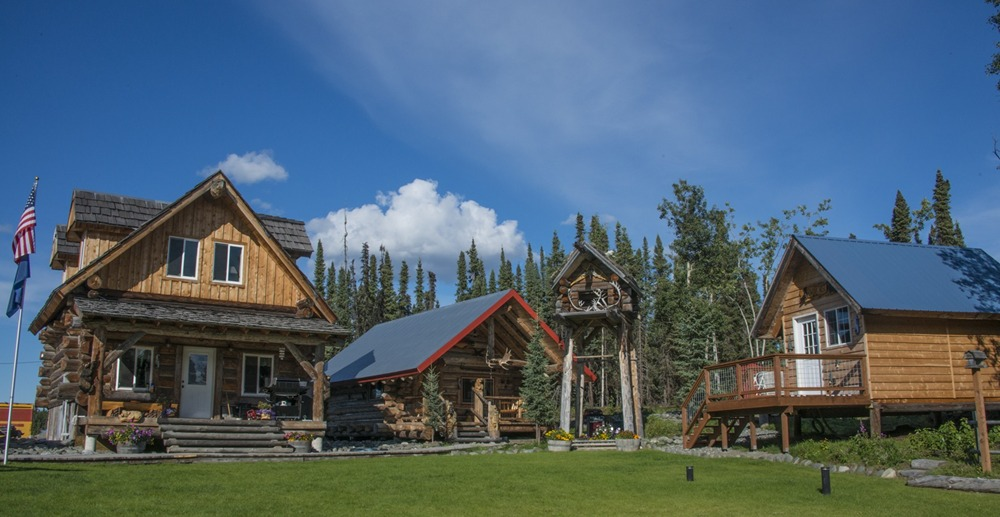 Alaskan wooden bear cabins custom fishing packages for Alaska cottage