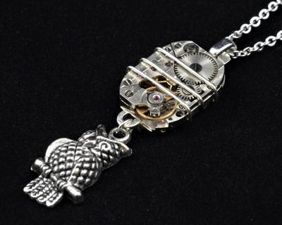 Watch Movement with Owl Pendant