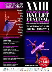 Miami Events; International Ballet Festival; Dance; Performance live show; Stars
