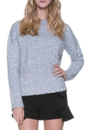Silver Shimmer Holiday Sweater