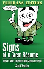 Signs Of A Great Resume Veterans Edition