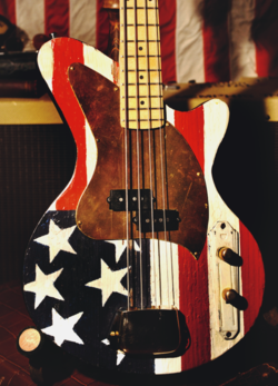 Dixie Flyer Flag Bass made by Postal Guitars