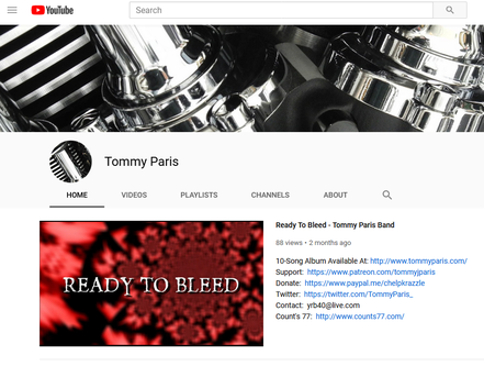 Tommy Paris Youtube Channel