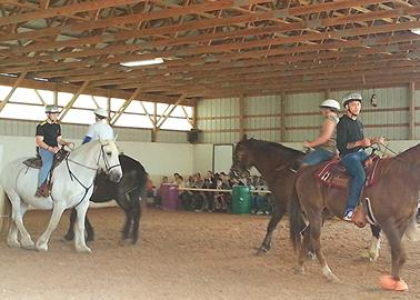 Opportunities for therapeutic horseback riding and other animal therapy may be available