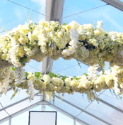 custom flower chandelier | GPCurtis