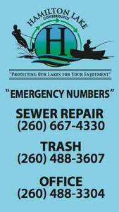 Emergency numbers, magnet