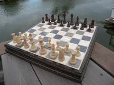 How to make a DIY easy Ceramic Tile and wood molding Chess Board. www.DIYeasycrafts.com