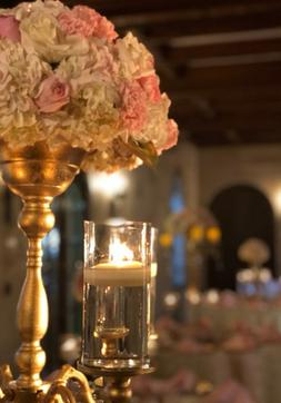 Powel Crosley indoor wedding reception by Sarasota Wedding Gallery
