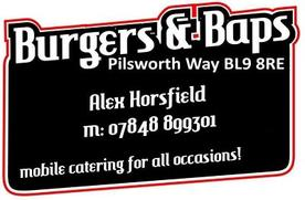 Burgers and Baps mobile caterers Bury