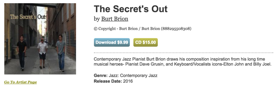 Burt Brion - The Secret's Out
