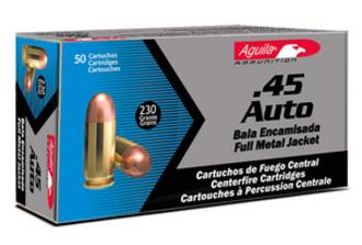 .45 caliber Auto full metal jacket bullets
