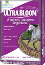 Seminole Ultra Bloom high fat rice bran suplement