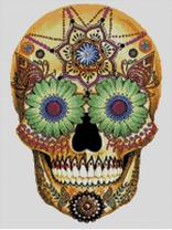 Cross Stitch Chart of Sugar Skull No 14