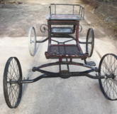 Viceroy with one wheel sandblasted, prior to 2017 Royal Adelaide Show