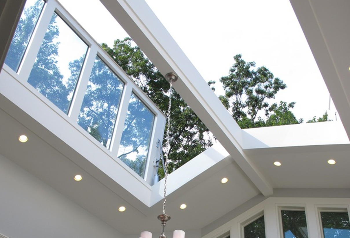 Home custom skylights windows and roof hatches for Large skylights