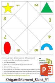 Origami Moment_Blank PowerPoint template