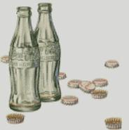 Cross Stitch Chart Pattern of Retro Cock Bottles Artwork