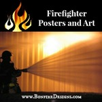 Firefighter Posters, Art and Photography