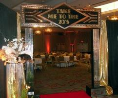 Gold Shimmering Entrance Decor - Take Me To The 20's Prom Theme