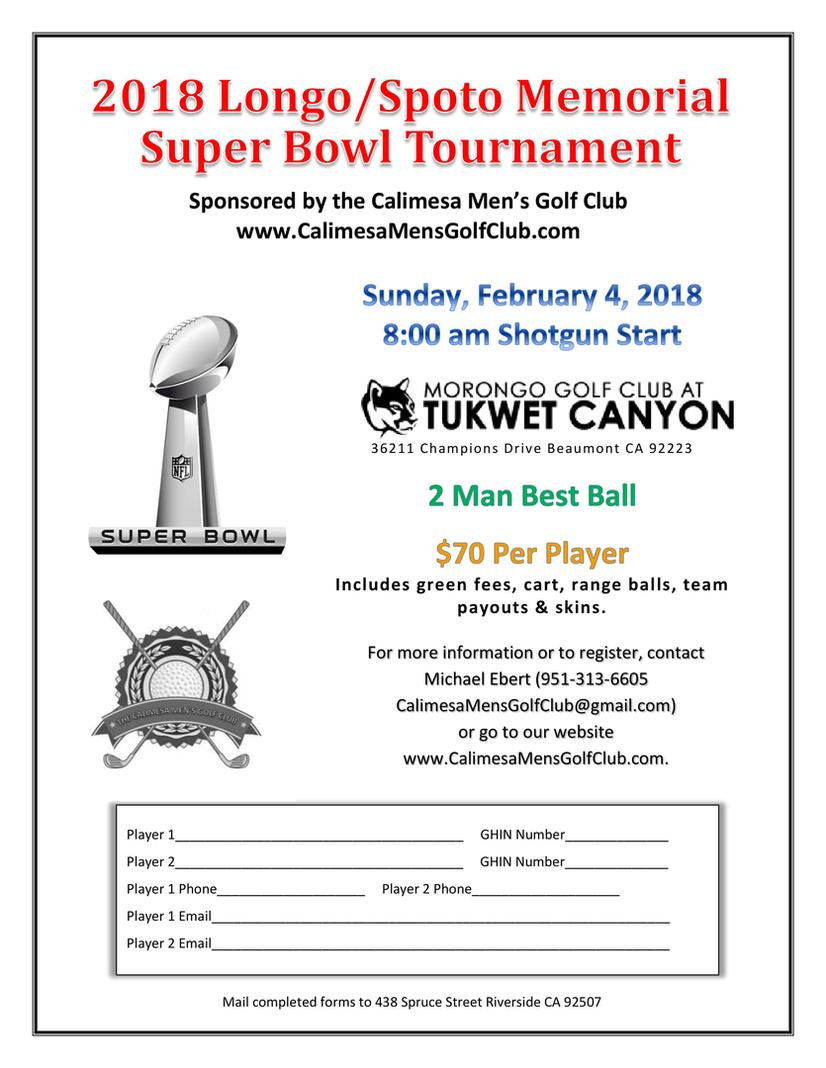 Longo/Spoto Super Bowl Tournament