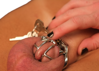 Male chastity device for a very small penis