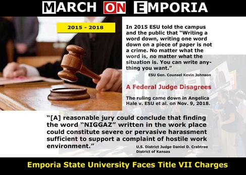 Emporia State University Faces Title VII Charges