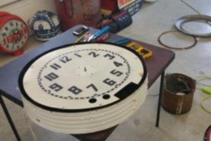 Cleveland Neon Clock ready for restoration